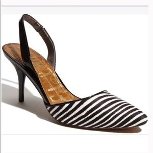 Sam Edelman Orly Zebra Slingback Heels